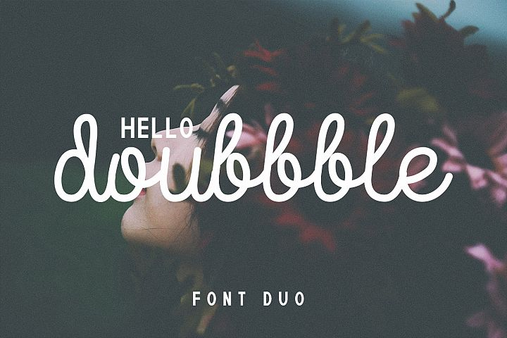 Doubbble Helllo Font Duo