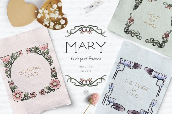Vintage clipart frames, floral wreath clipart, wedding