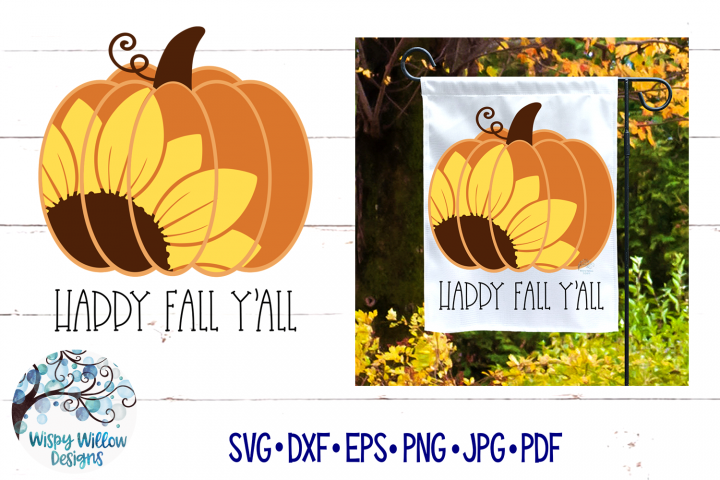 Happy Fall YAll SVG | Sunflower Pumpkin SVG | Fall SVG