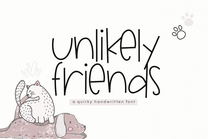 Unlikely Friends - A Quirky Handwritten Font