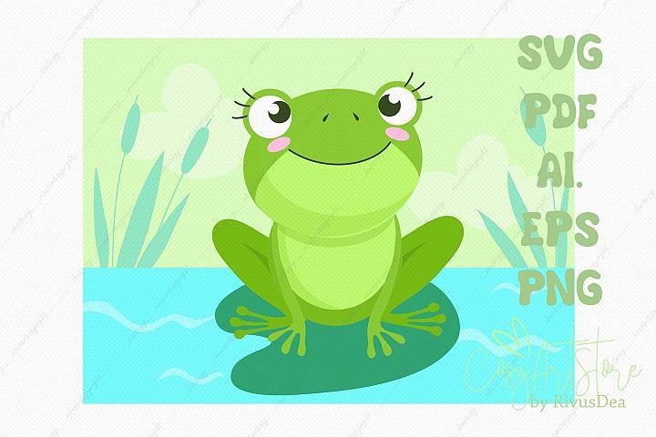 Frog SVG baby shower background