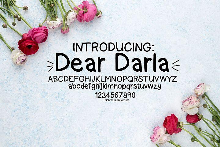Dear Darla, a handwritten font