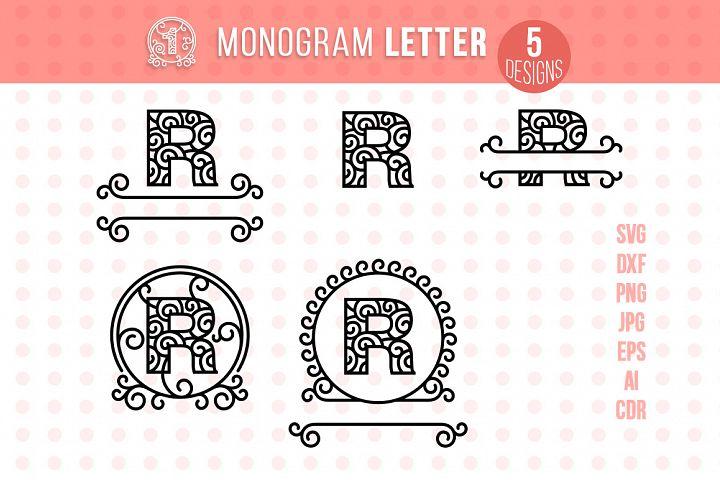 Monogram Letter R
