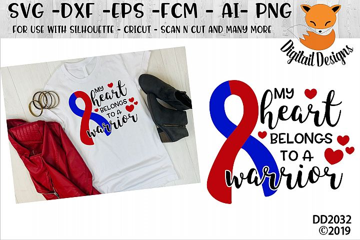 CHD Awareness My Heart Belongs To A Warrior SVG