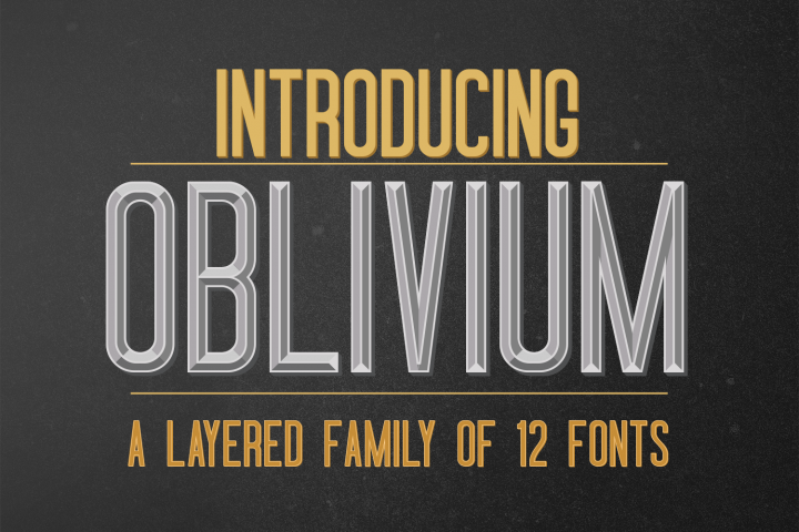 Oblivium Layered Font Family