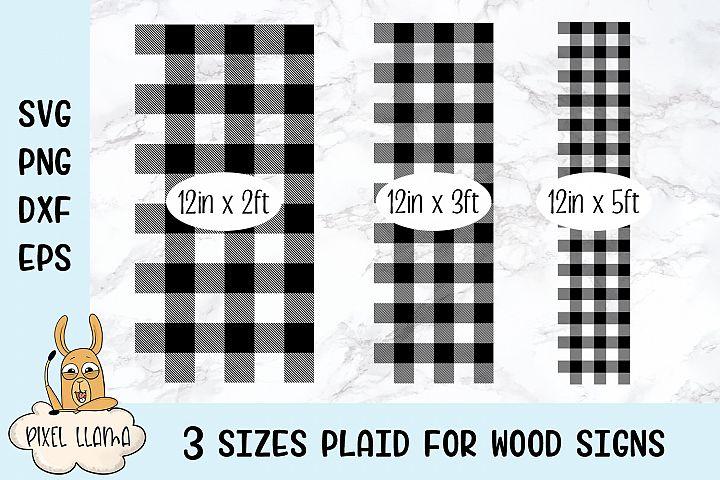 Multi Sized Plaid Pattern 3 Sizes