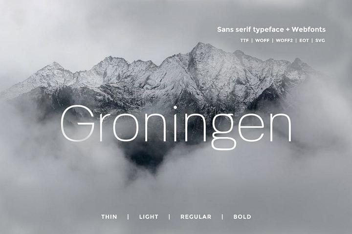 Groningen - Modern San-serif Typeface Webfonts