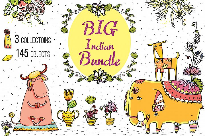 Big Indian Bundle - 145 objects