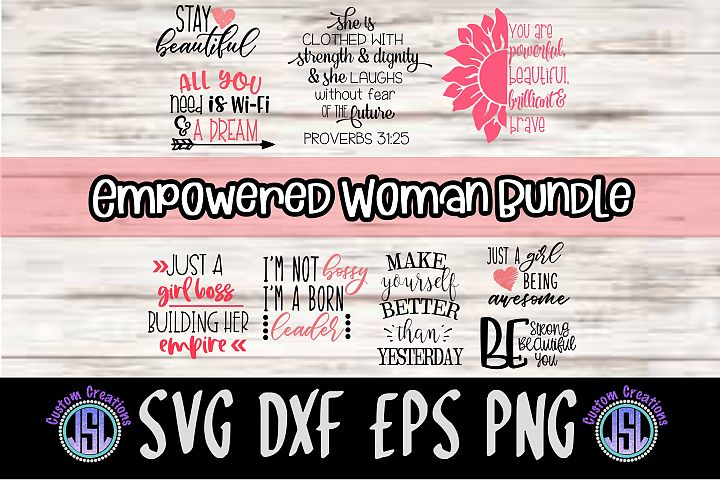 Empowered Woman Bundle | Set of 9 | SVG DXF EPS PNG