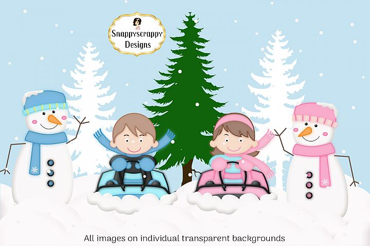 Christmas Winter Snow Fun Clipart