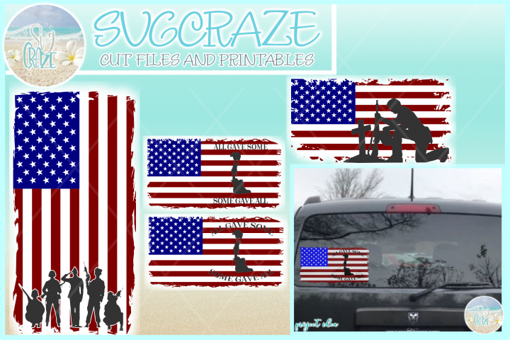 Usa American Flag Soldiers Salute Svg Dxf Eps Png Pdf Files