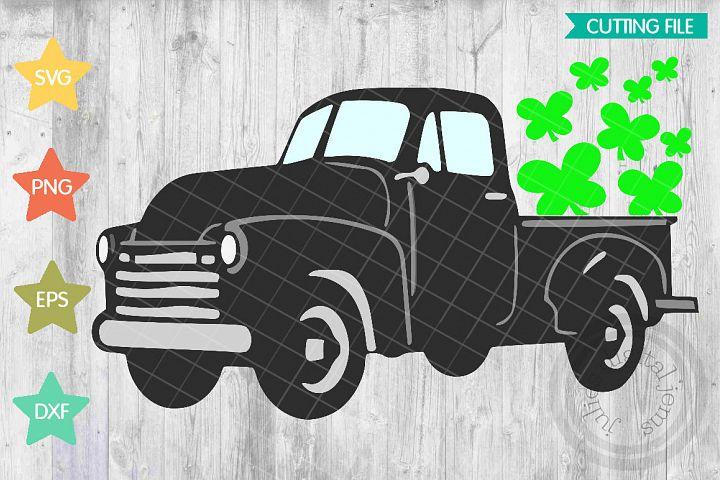 Vintage truck St. Paddys day svg, Clover svg, Shamrocks