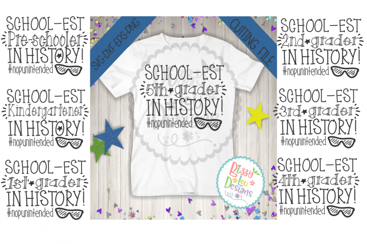 Back to school Bundle SVG DXF EPS PNG cutting files