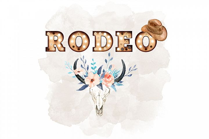 Rodeo Illustration, Western Design