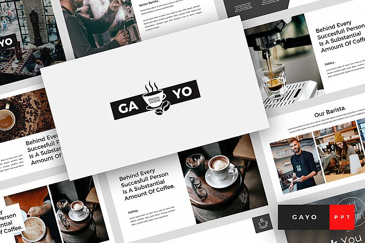 Gayo - Coffee Shop PowerPoint Template