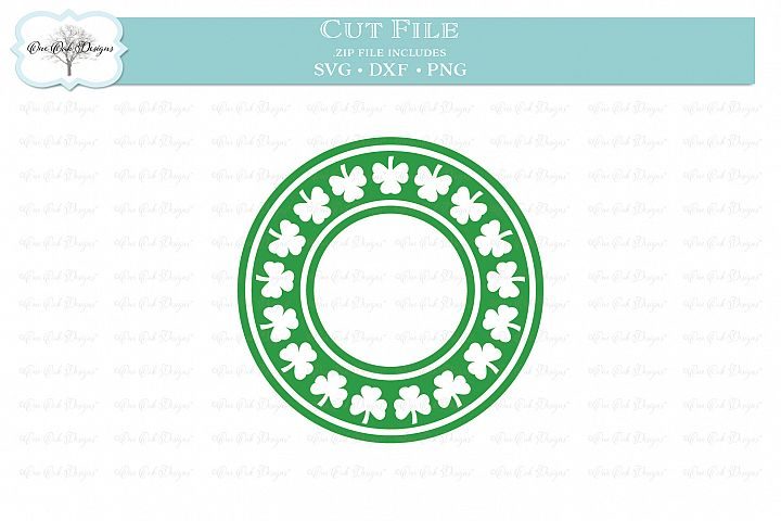 Shamrock Circle Frame for Monogram