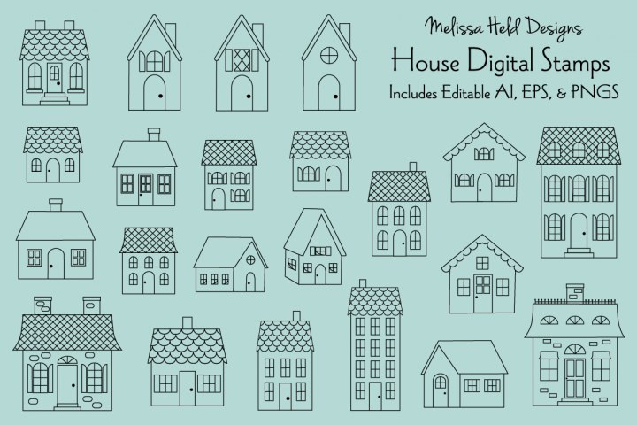 House Digital Stamps