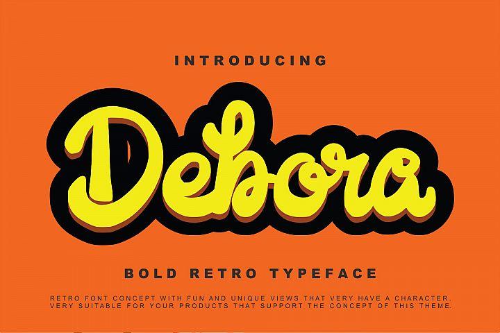 Debora - Retro Handwritten Script