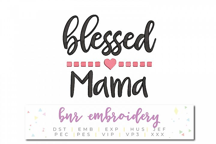 Blessed Mama Machine Embroidery Design