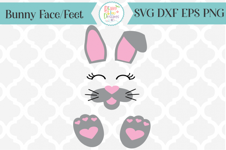 Easter Bunny Parts Bunny Face SVG Cutting File