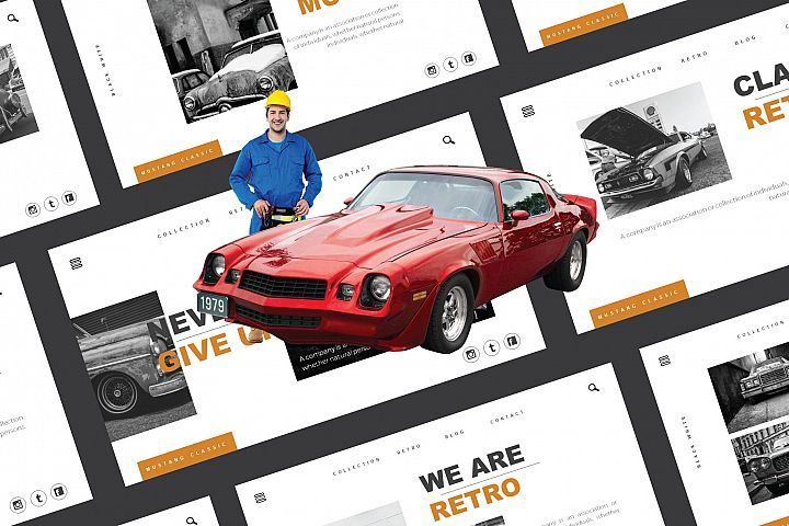 Mustang Google Slide Template