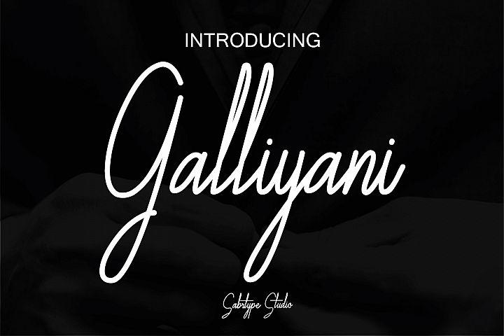 Galliyani Handwritten Font Style