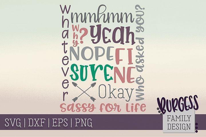 Sassy subway art | SVG DXF EPS PNG