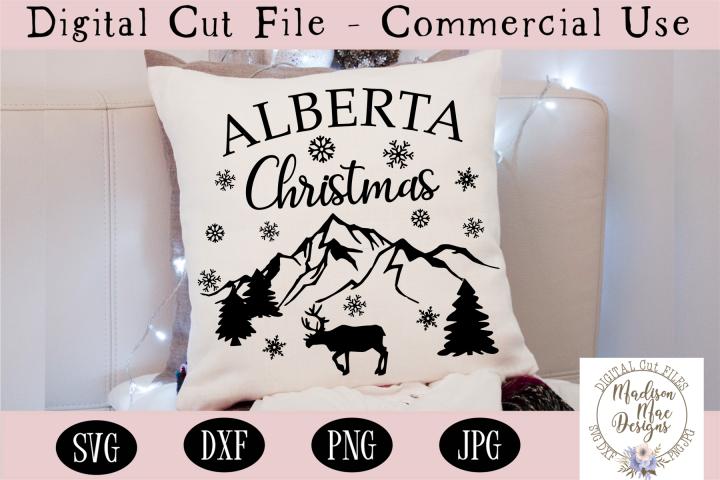 Alberta Christmas SVG, Christmas Cut File