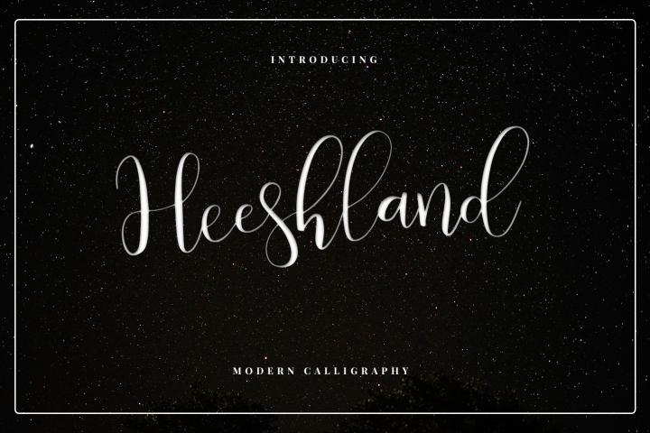 Heeshland//Modern calligraphy font