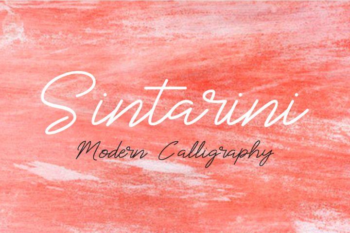 Sintarini Typeface