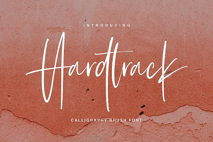 Hardtrack - Calligraphy Brush Font