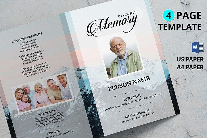 MOUNTAIN | Funeral Program Template