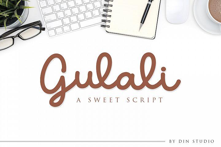 Gulali - a sweet script