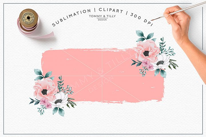 Pink Floral Background No.1 - Sublimation PNG Clipart