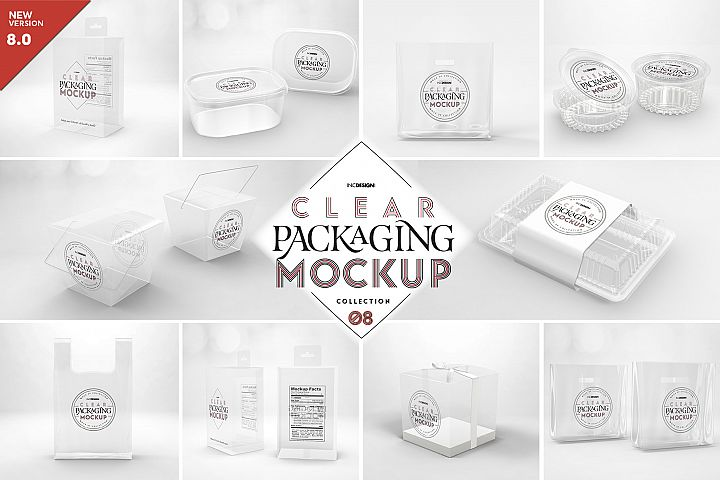 VOL.8 Clear Packaging Mockup Collection