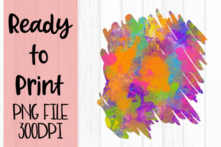 Multi Color Splatter Background Ready to Print