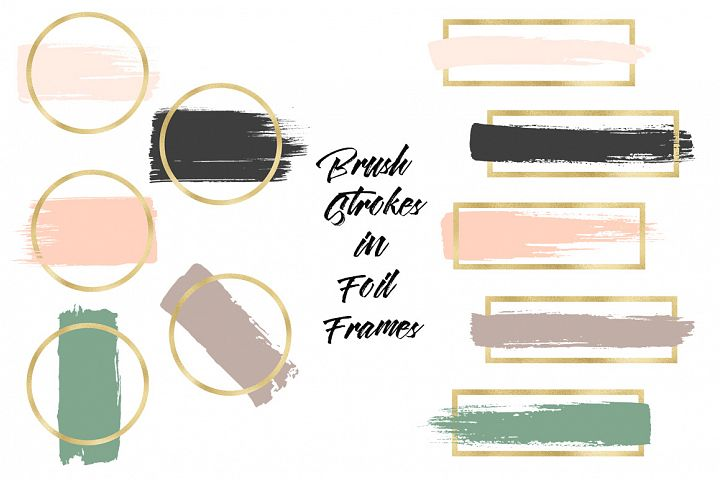 Brush Strokes & Gold Frames II example image 3