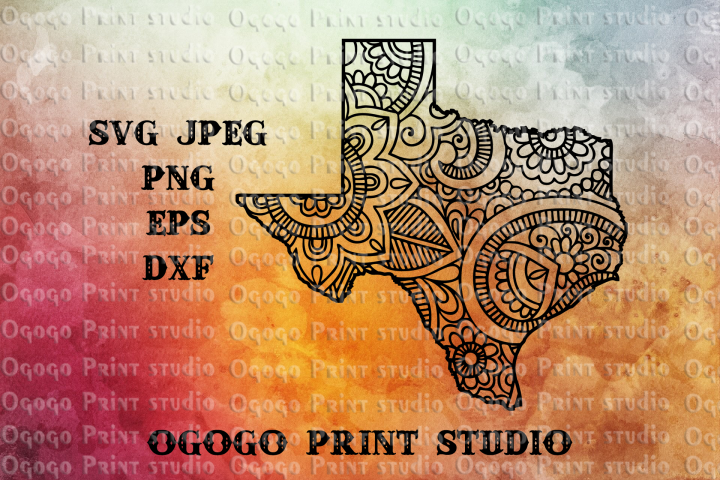 Texas svg, Map SVG, Zentangle SVG, Doodle Art, Mandala svg