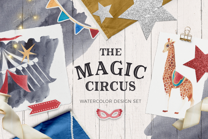 The Magic Circus vintage design set
