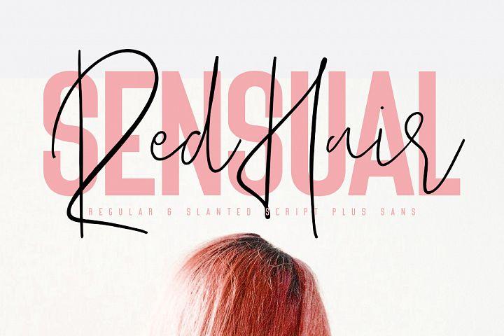 Red Hair Sensual - Free Sans Serif