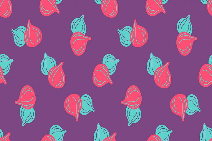 Seamless pattern of figs fruits virtual background for Zoom
