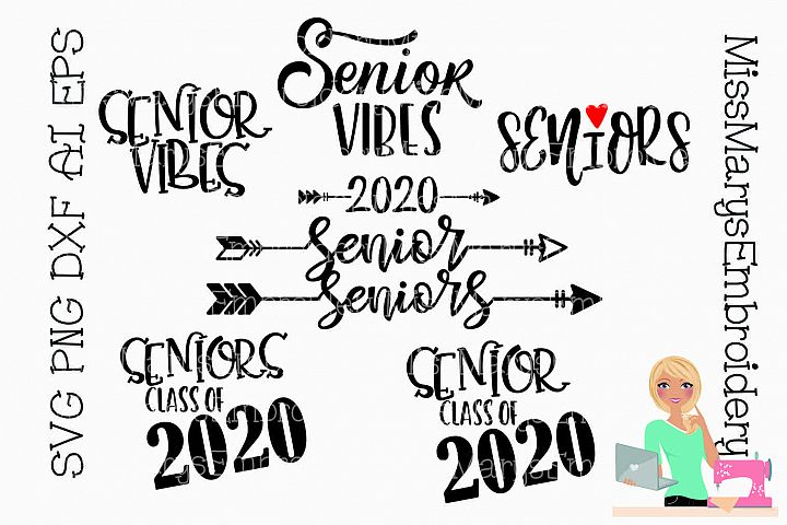 8 Senior Sayings Bundle SVG Cutting File DXF EPS PNG Seniors