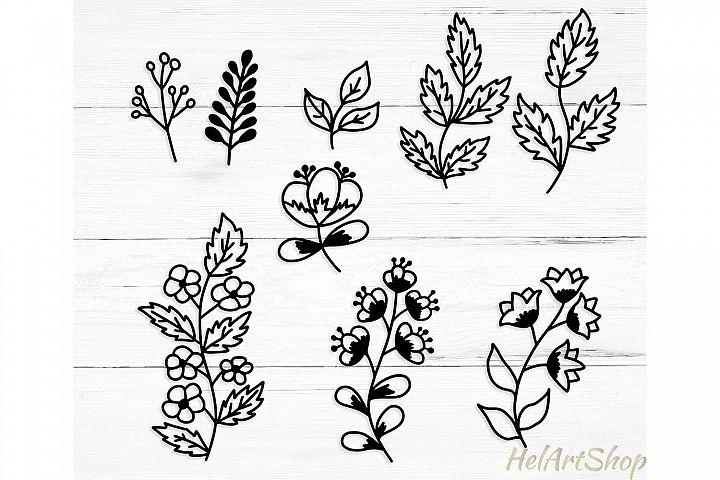 Set of leaves. Svg design