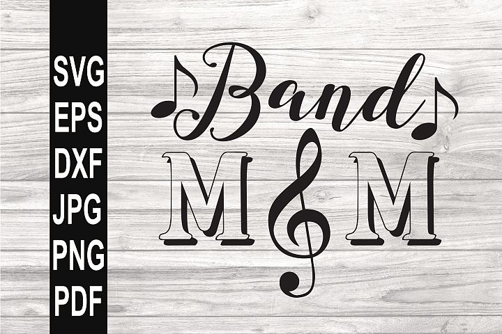 Band Mom SVG | Band Mom Clef SVG