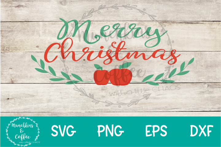 Merry Christmas Apples- SVG