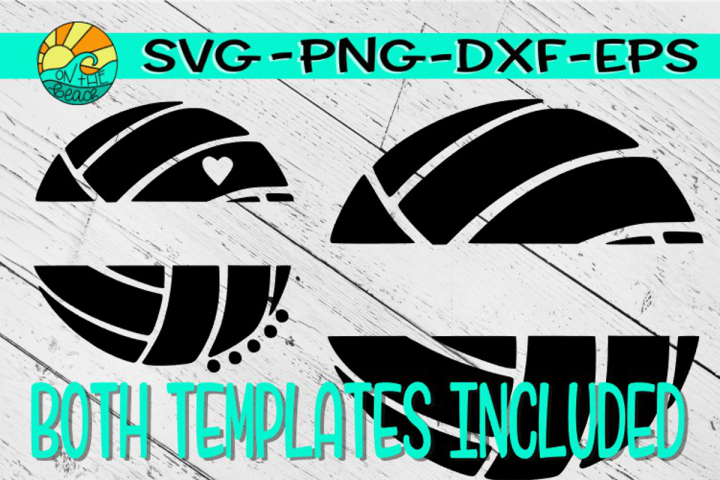Volleyball Template - Both Templates Shown Included