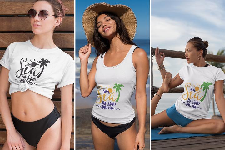 Sun, Sea the Sand and Me   Summer & Beach SVG Cut File