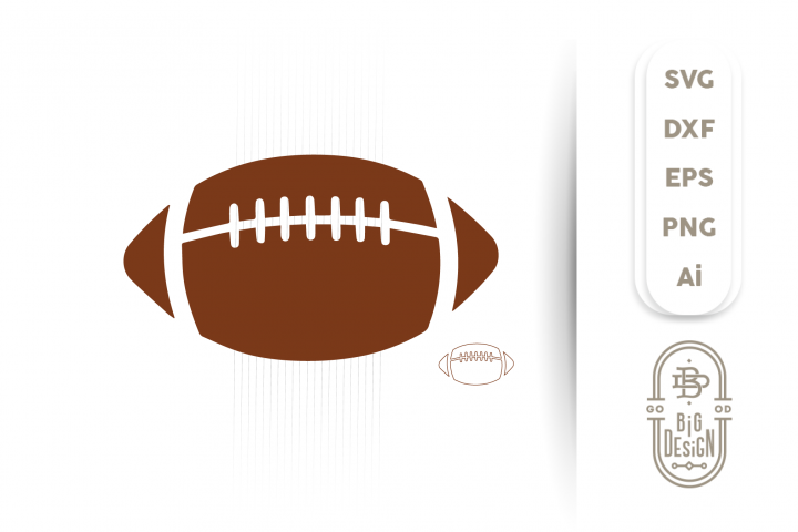 Football SVG Cut File - Football Silhouette Svg