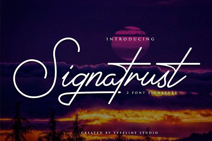 Signatrust / 2 font signature