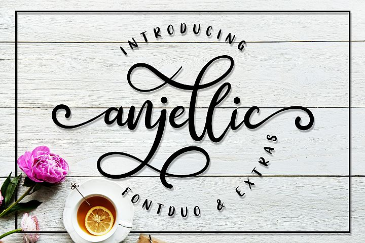 Anjellic // Font Duo & Extras